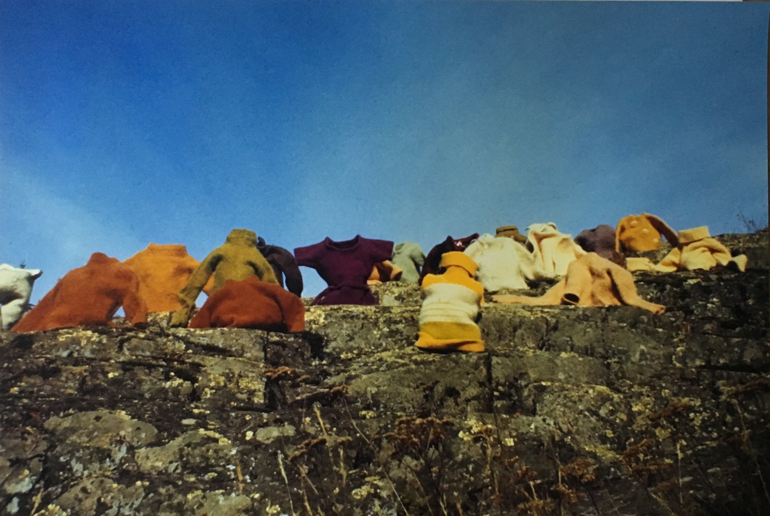 Aganetha Dyck + Peter Dyck  Clothing On the Hill  1978 / 2018  Edition of 9 / 1 AP  Chromogenic Print  16 x 24 inches