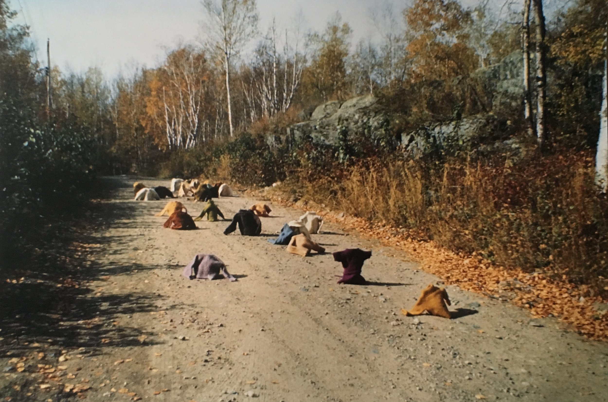 Aganetha Dyck + Peter Dyck  Clothing On the Road  1978 / 2018  Edition of 9 / 1 AP  Chromogenic Print  16 x 24 inches