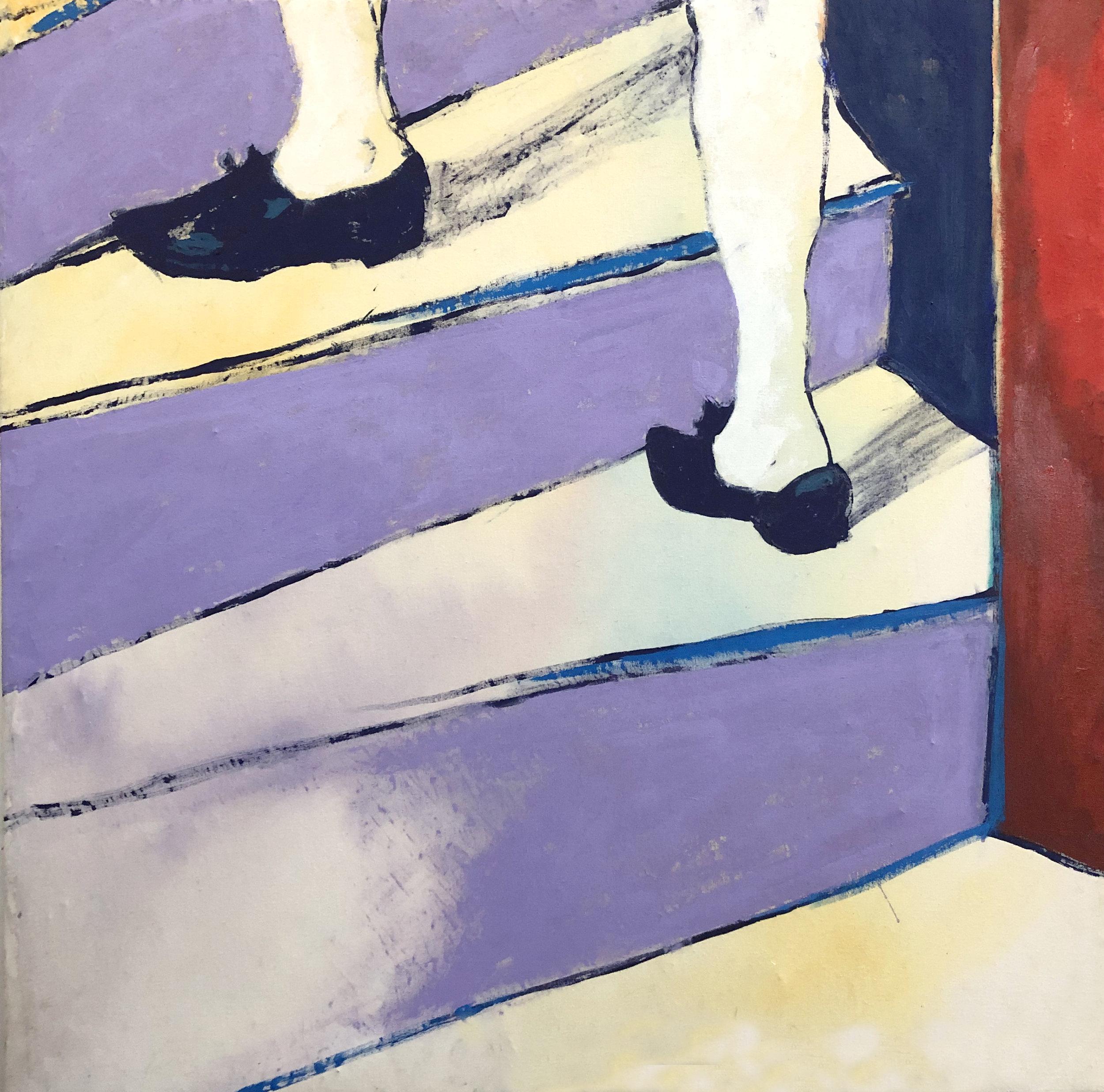 03_Joshua Petker, 30x30%22, acrylic and oil on canvas, 2018.jpg