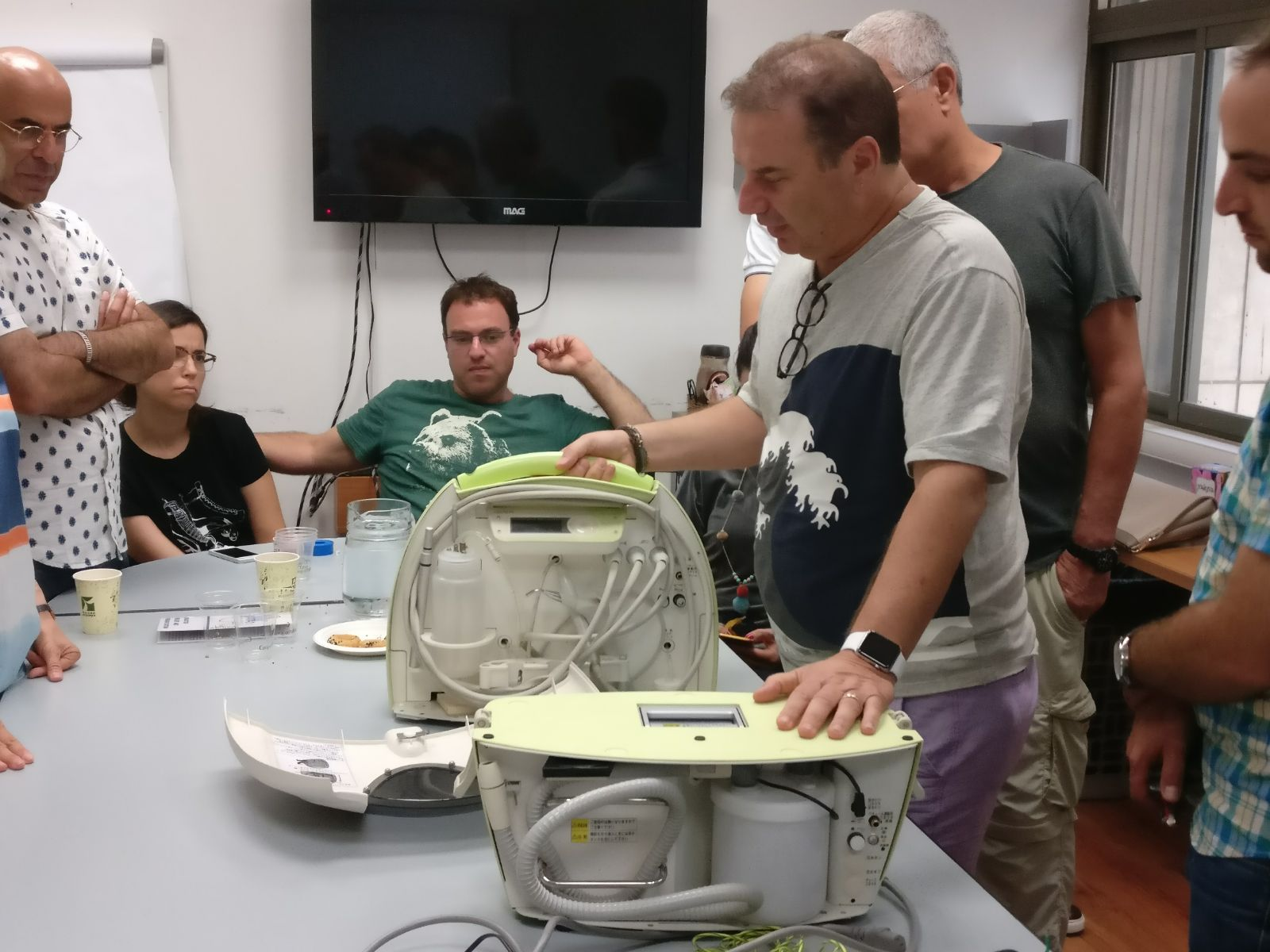 Demonstrating the portable unit