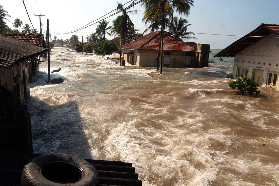 Sri Lanka, Tsunami Flooding 2004