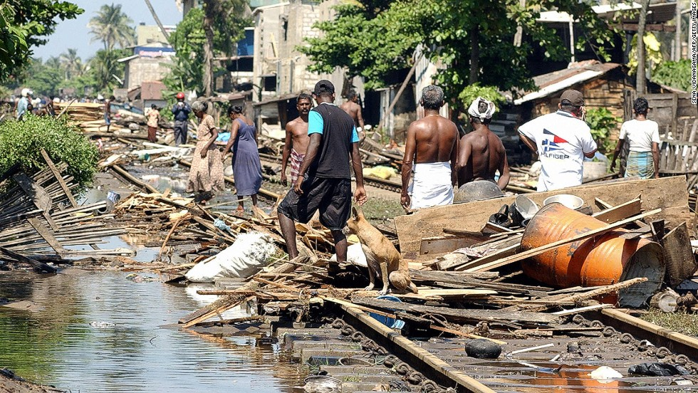 Sri Lanka, Tsunami Aftermath, 2004