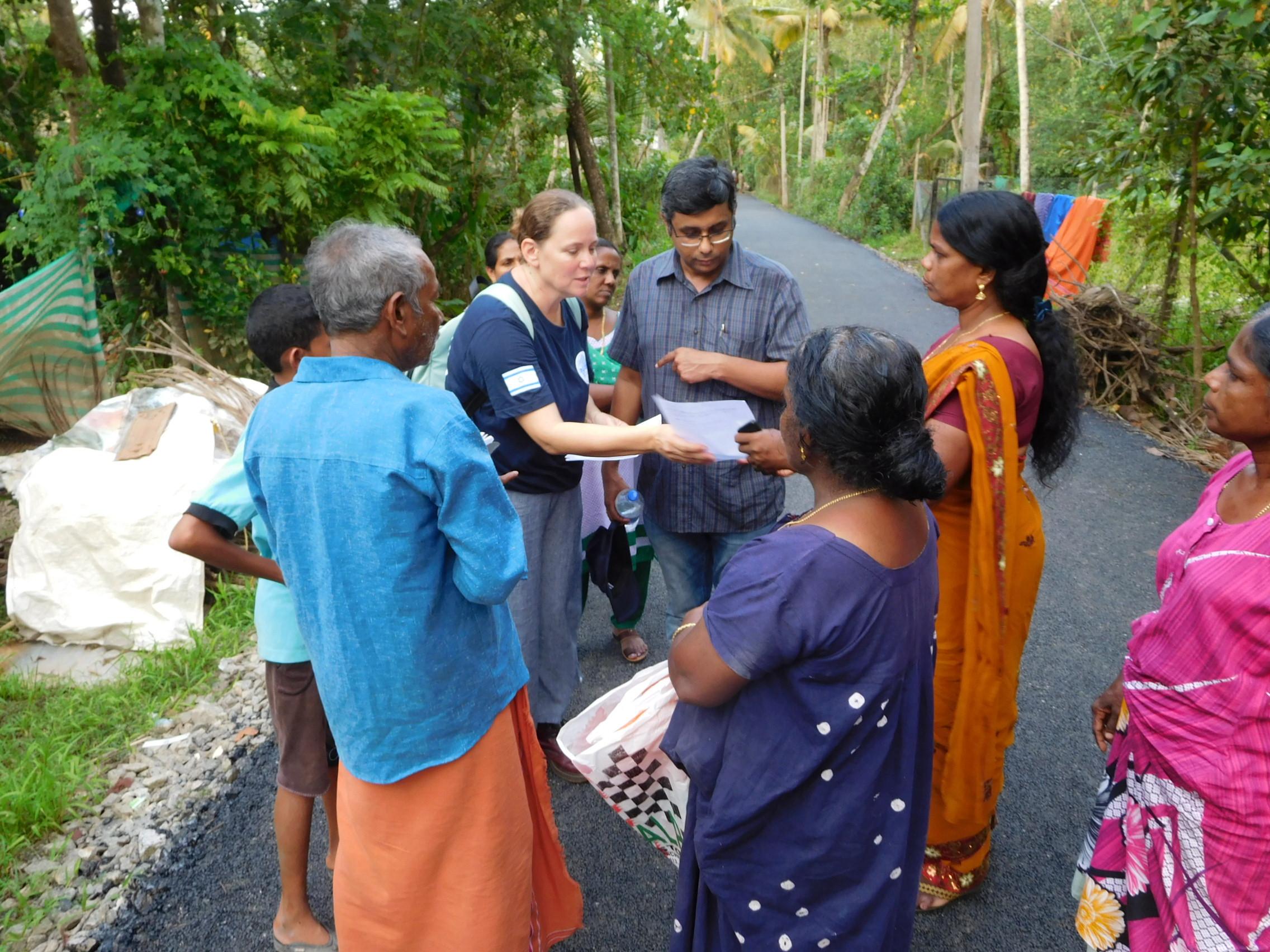 Discussing needs, Kannadi Village