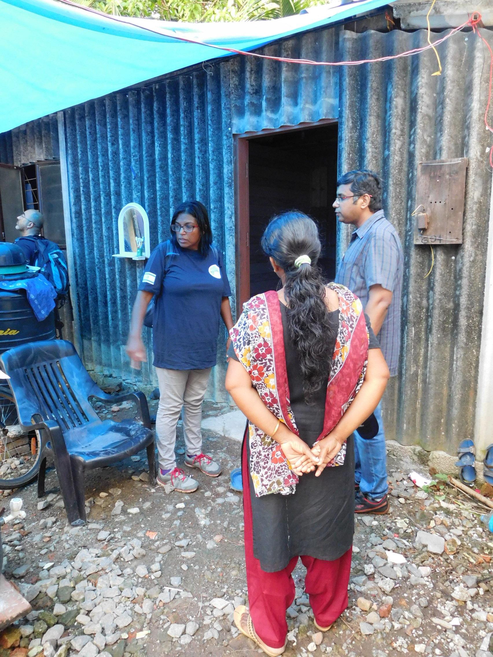 Kannadi Village - viewing flood damage