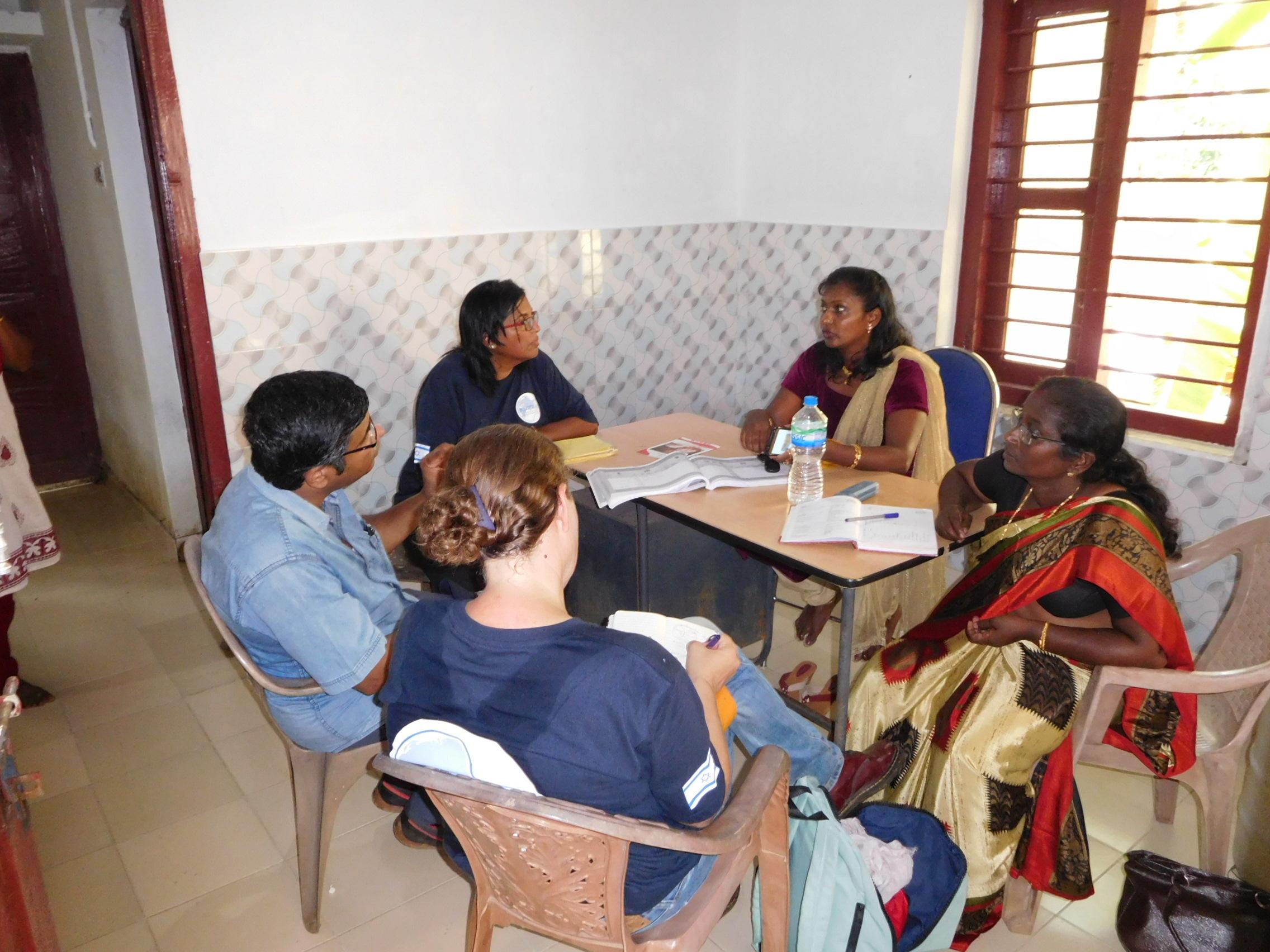 Meeting  ASHA-Accredited Social Health Activists