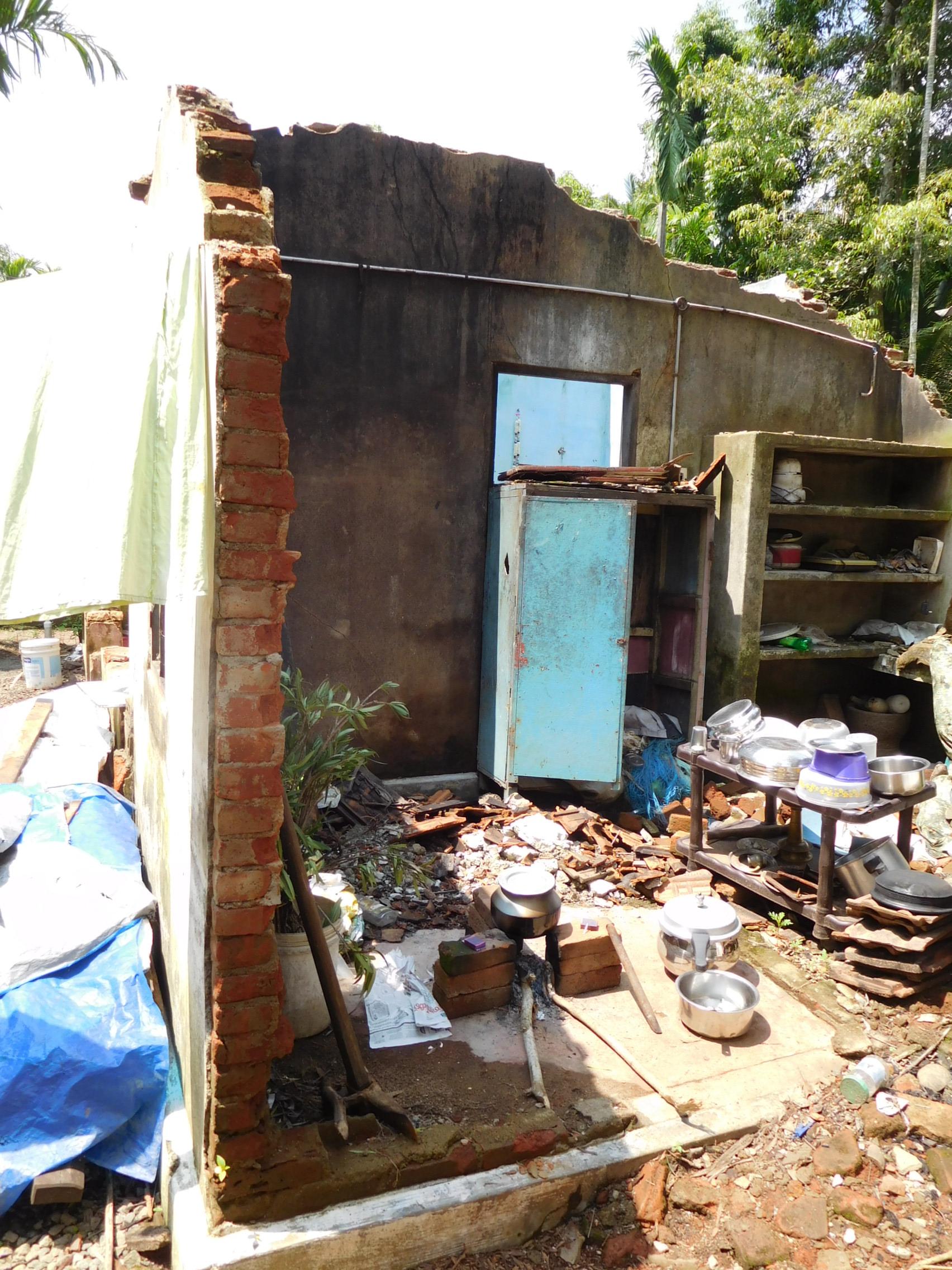 Kannadi Village - flood damage
