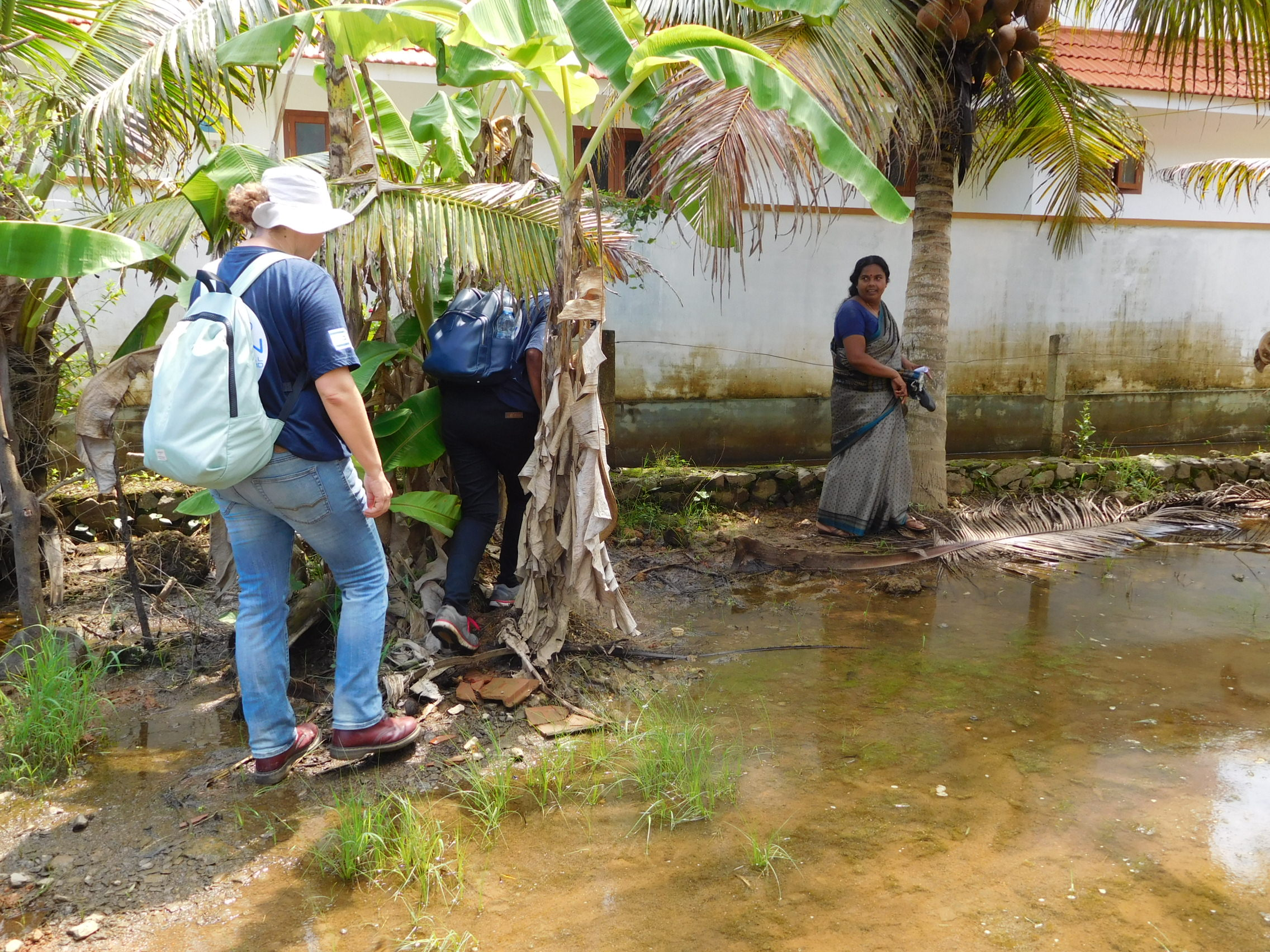 Kerala Assessment - viewing flood damage