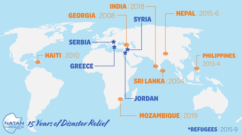NATAN operations worldwide: 2004 - 2019