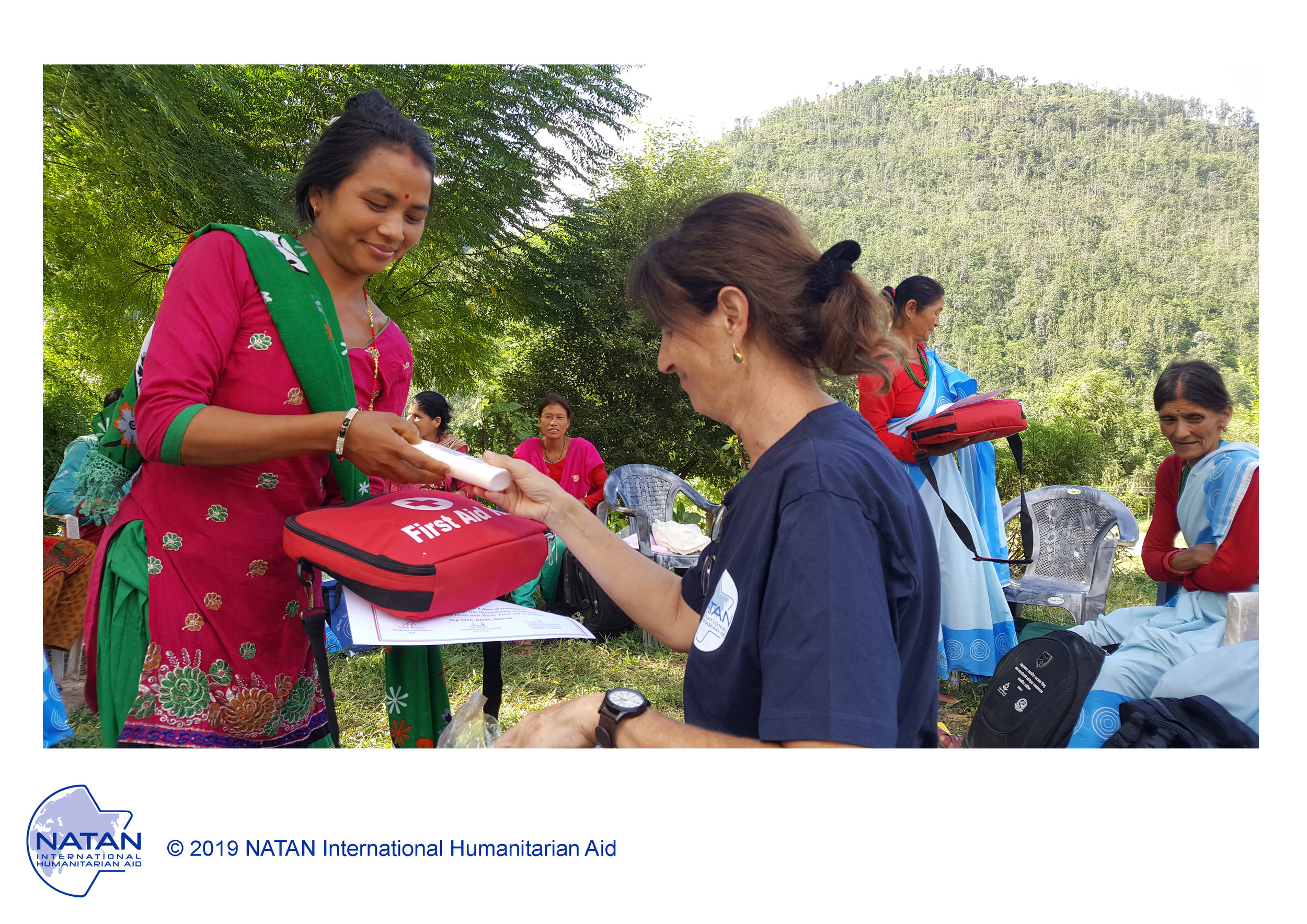 nepal 2016 - local midwives and community health volunteers graduate from natan training program on reproductive health in the Dahding region, following natan's earthquake relief operation the previous year.