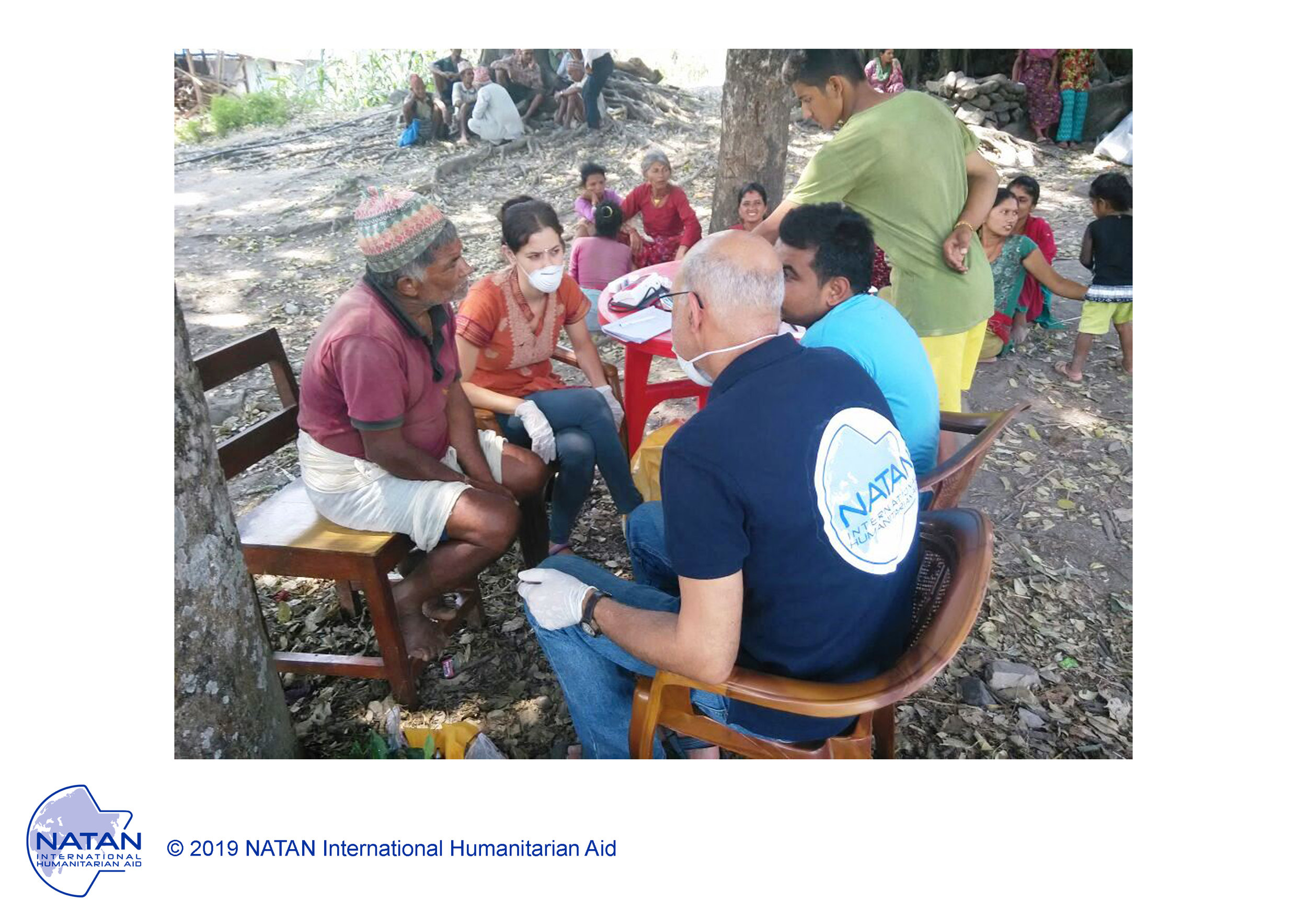 nepal 2015 - natan md performing medical assessment of survivors of nepal earthquake