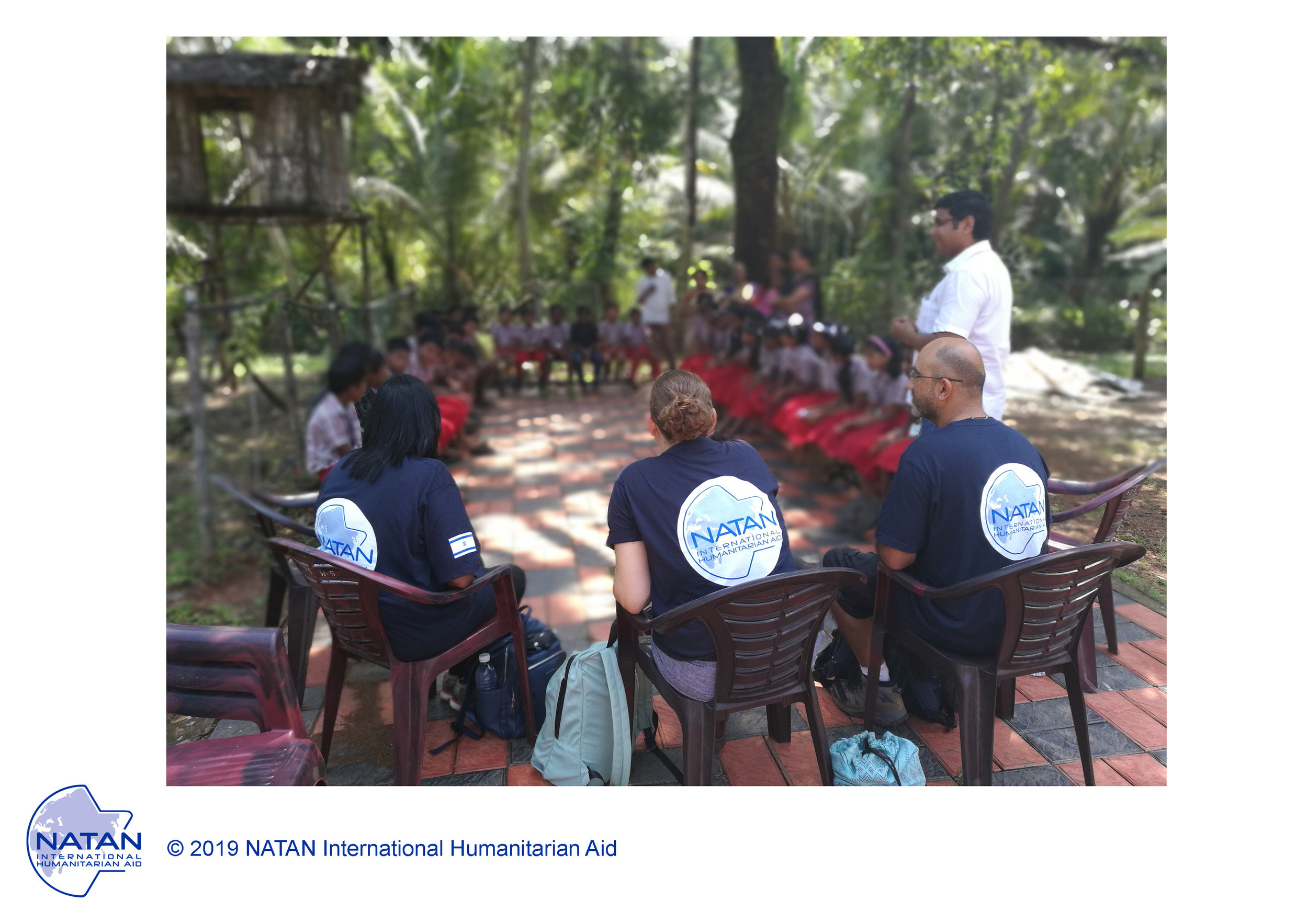india 2019 - natan team members meet with schoolchildren, survivors of monsoon flooding in kerala region, india