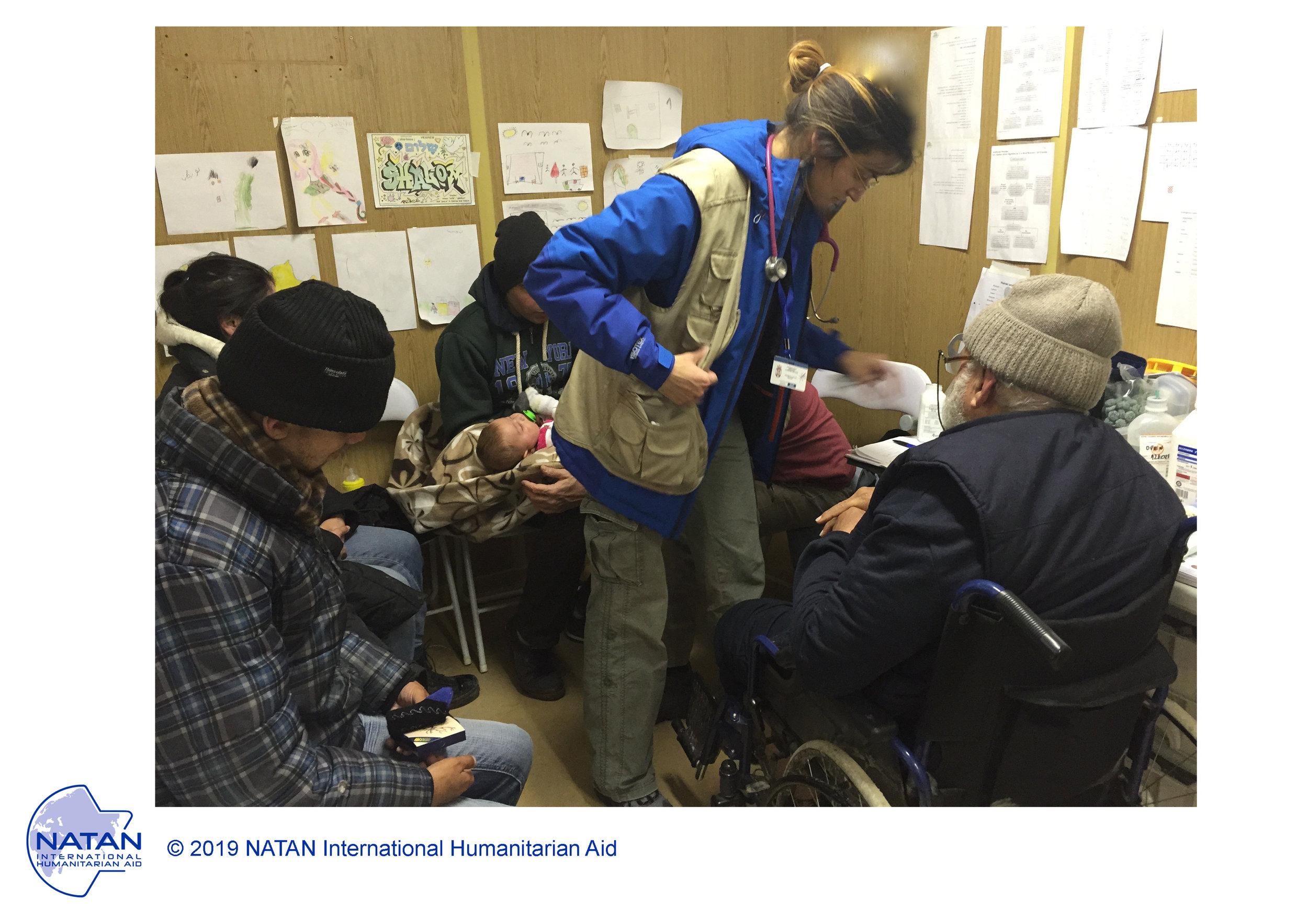 SERBIA 2016 - NATAN MD treating REFUGEES in clinic AT PRESEVO TRANSIT CAMP, NEAR THE MACEDONIAN BORDER