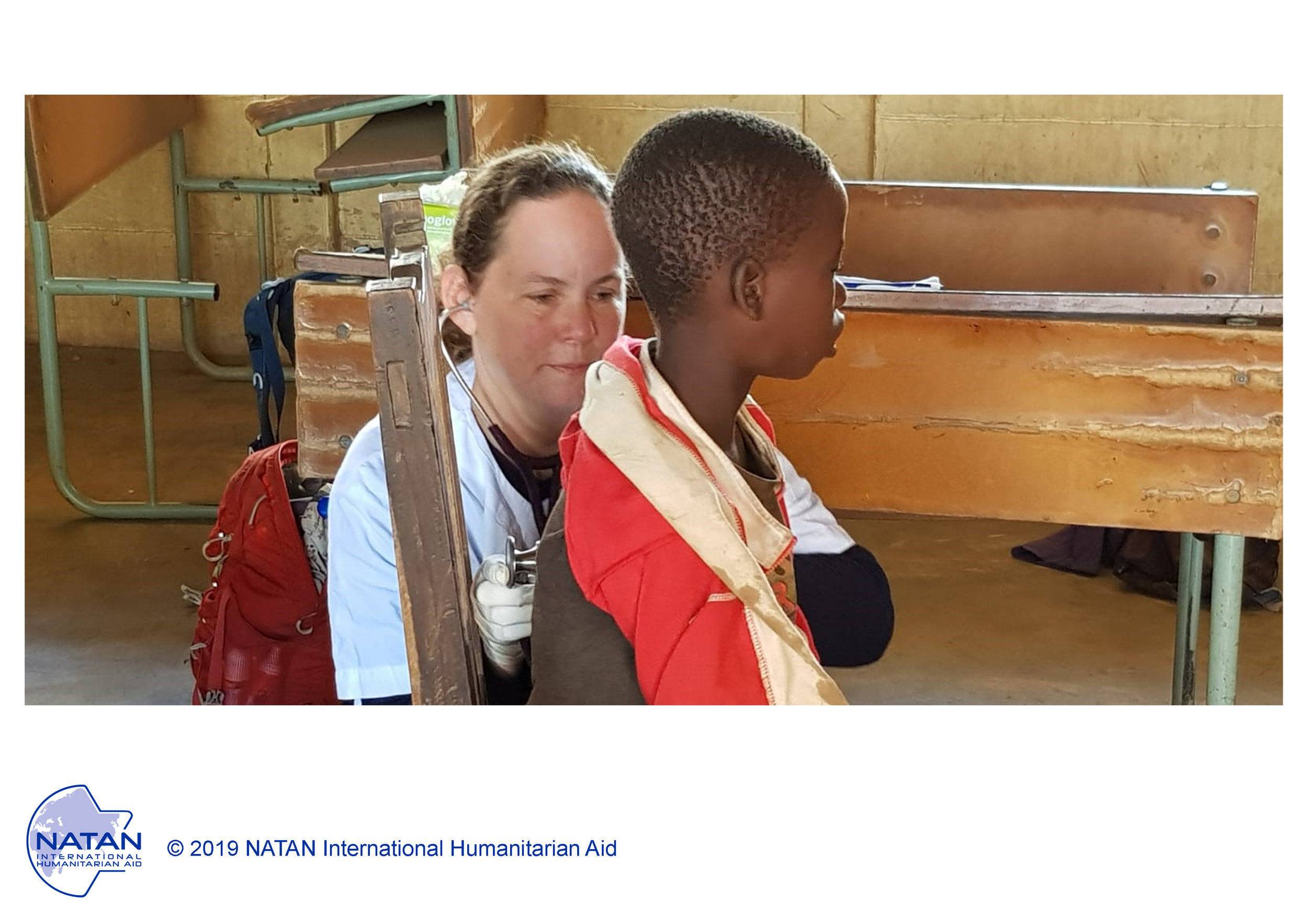 MOZAMBIQUE 2019: NATAN MD PROVIDEs PRIMARY MEDICAL CARE to a child in a remote village IN BEIRA REGION OF MOZAMBIQUE FOLLOWING CYCLONE IDAI