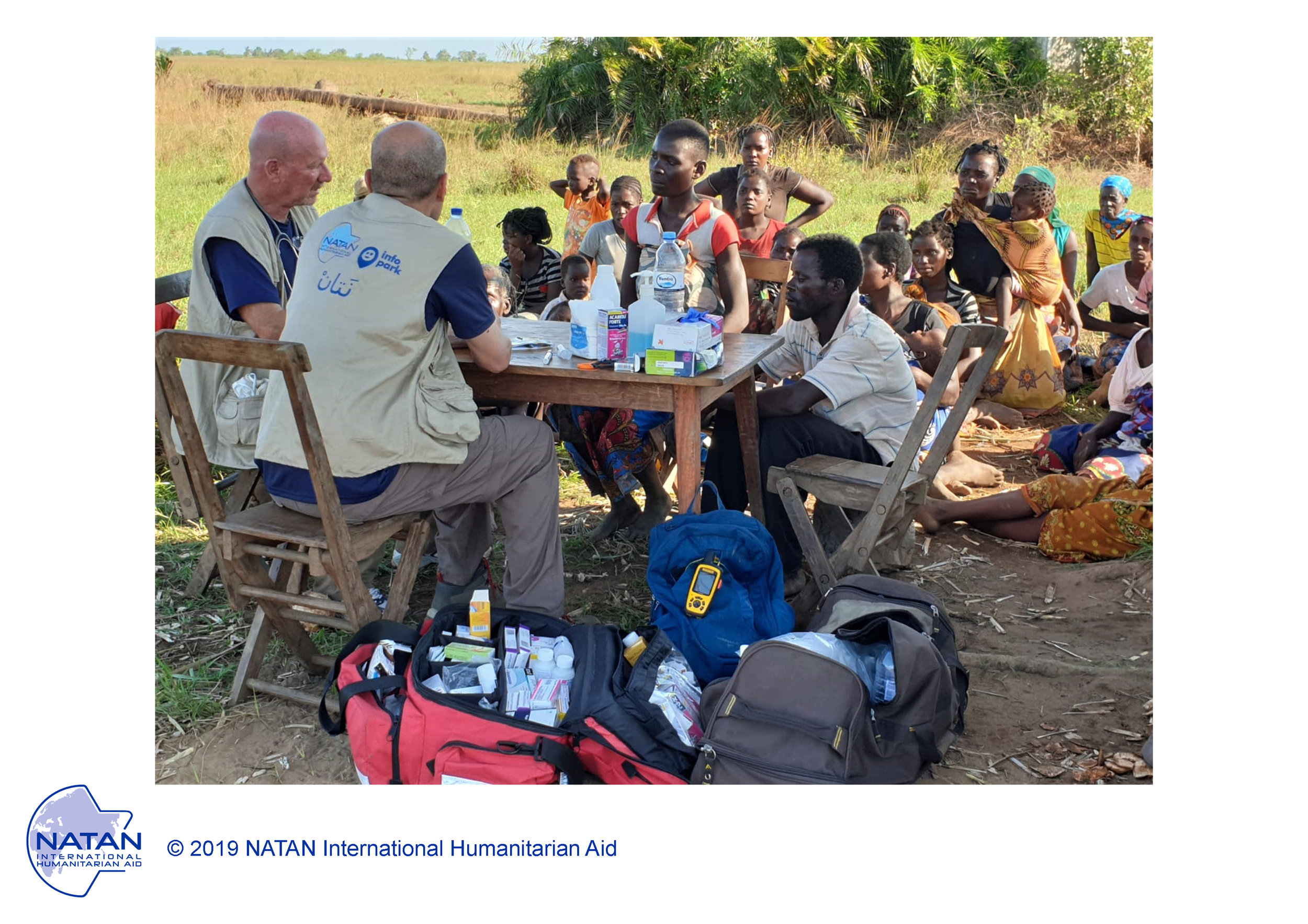MOZAMBIQUE 2019: NATAN TEAMS PROVIDE PRIMARY MEDICAL CARE AND HEALTH ASSESSMENTS IN OUTDOOR FIELD CLINICS IN BEIRA REGION OF MOZAMBIQUE FOLLOWING CYCLONE IDAI