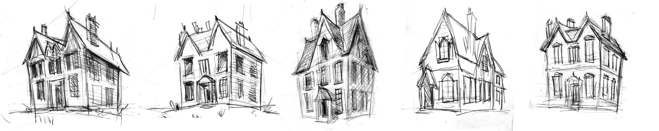 Various house creepy house options.