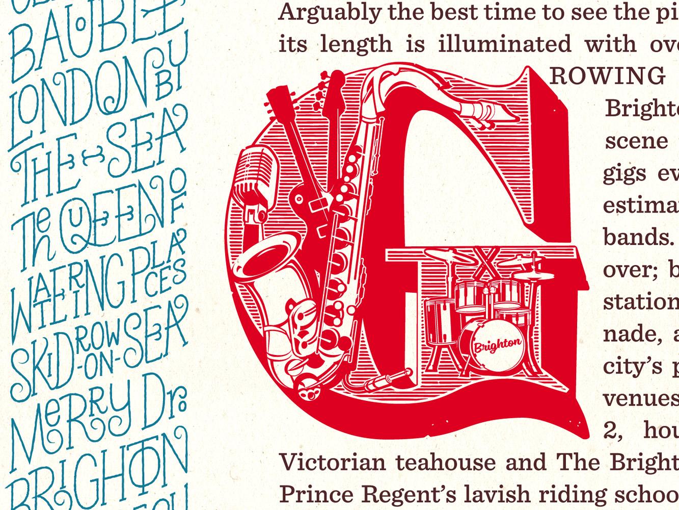 Brighton Letterpress Print