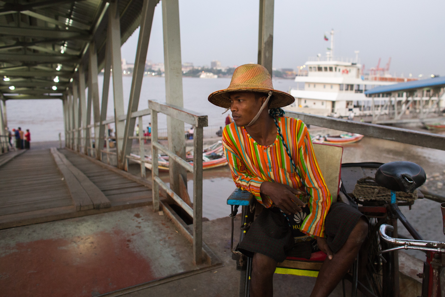 Only 15 minuts of ferry ride to reach Yangon