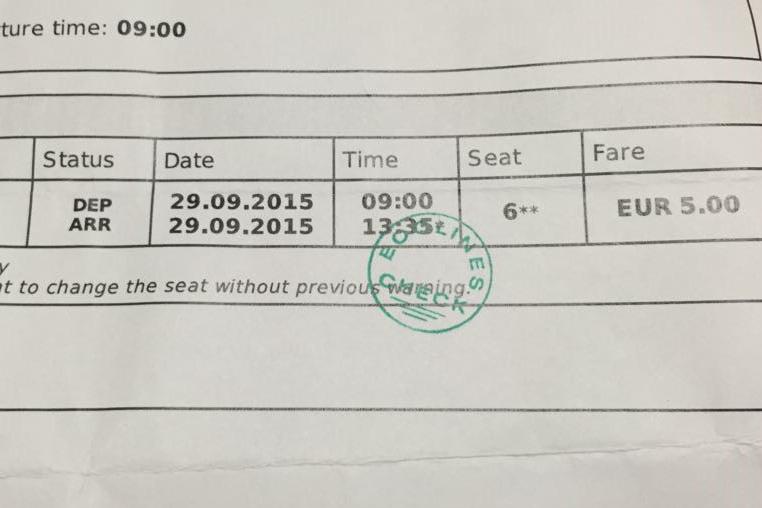 話就話 16.5,不過因為 summer sales 關係,所以只需 EUR 5,記緊列印車票供職員驗票。