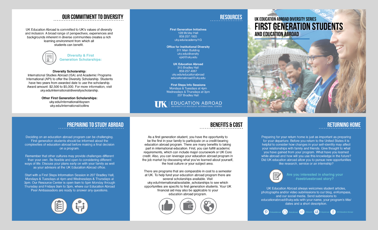 First-Generation Students and Education Abroad Brochure
