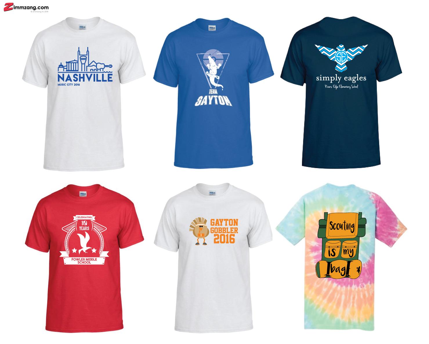 T-Shirt Design Samples