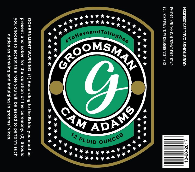 Groomsman Beer Label