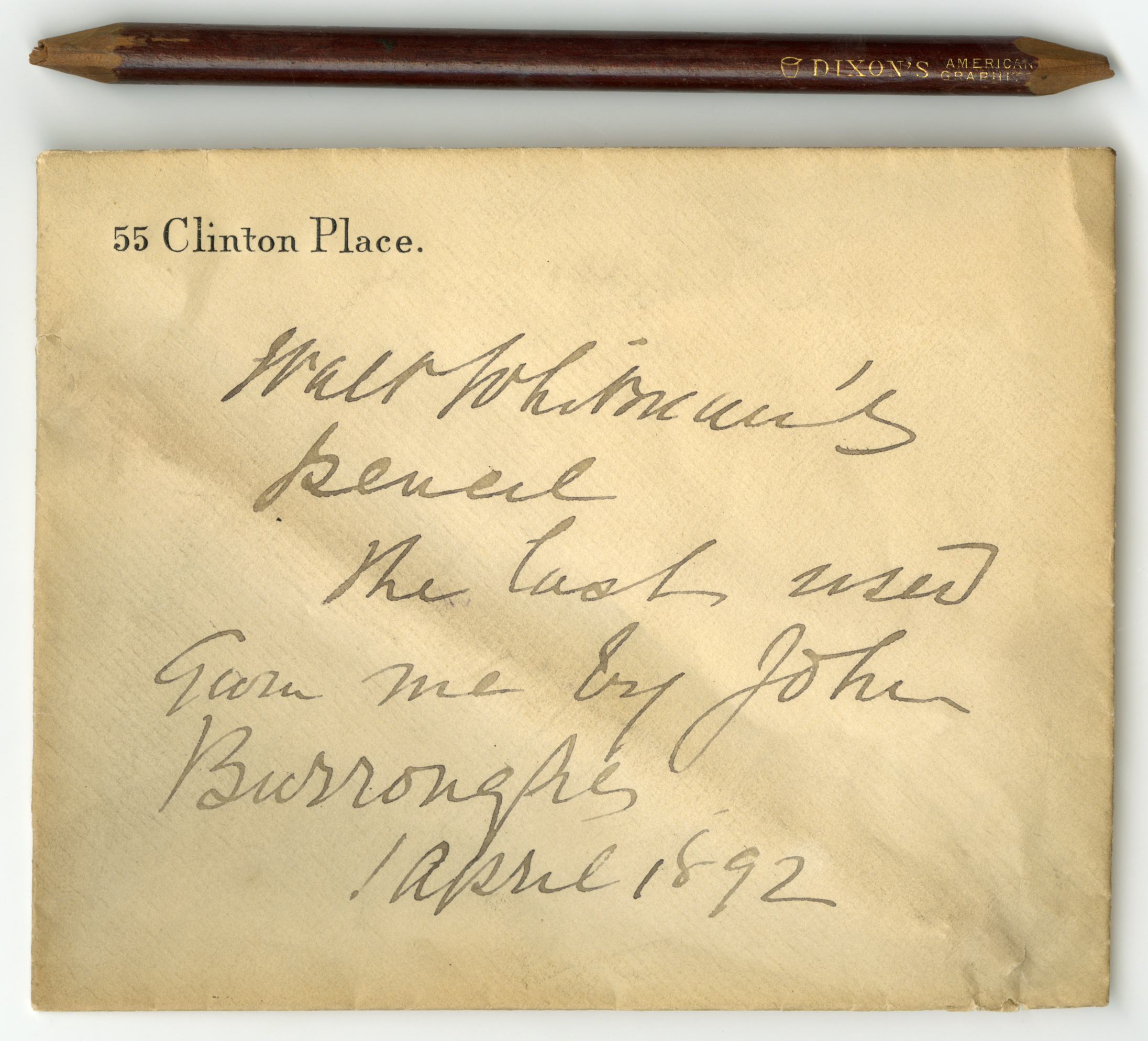 """"""" Whitman's last pencil ,""""  The Lilly Library Online Exhibitions , accessed November 8, 2018,"""