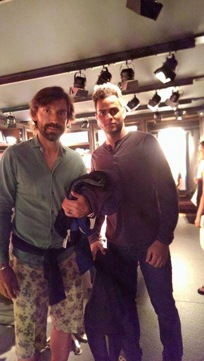 Third Rail fans will be lining up to take a photo with Pirlo, as Jose Bido did on the Italian's arrival in the city.[image credit: Jose Bido]