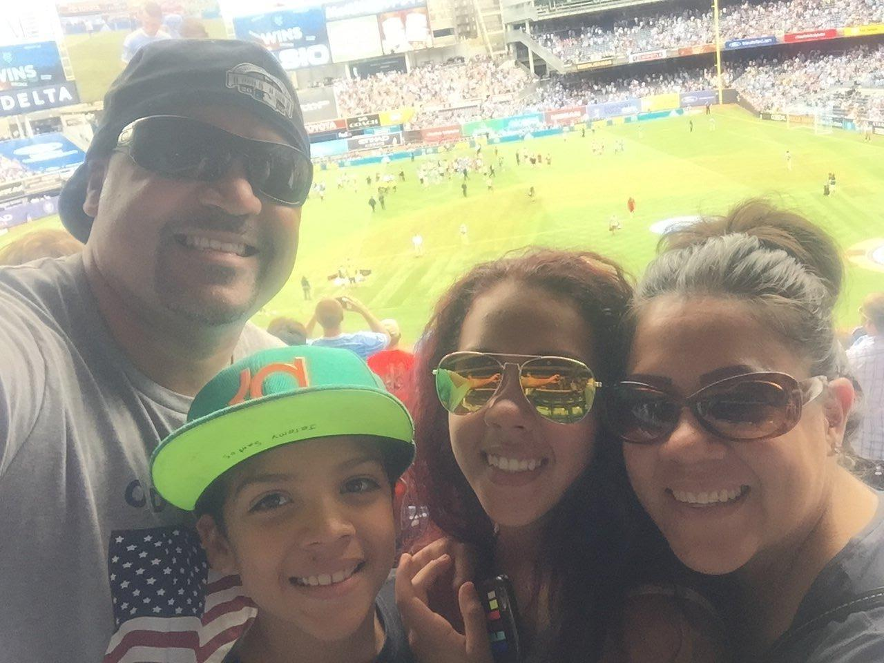 """""""Me and my family wanted to say thank you so much for allowing us to go Yankee Stadium and watch our first ever live futbol game. We enjoyed it so much.If it wasn't for your generosity this wouldn't have happened."""" - US Coast Guard Serviceman"""