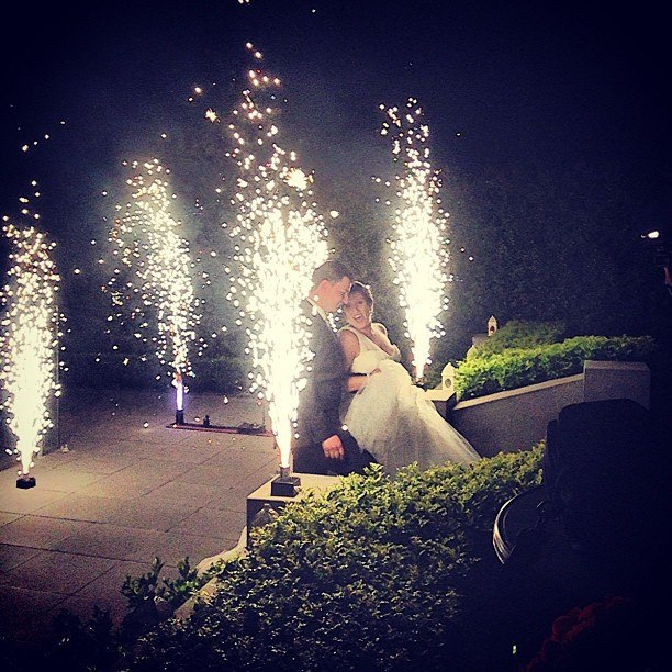 Blaso Pyrotechnics Close Proximity Wedding Fireworks used to create a guard of honour for the Bride and Grooms departure.