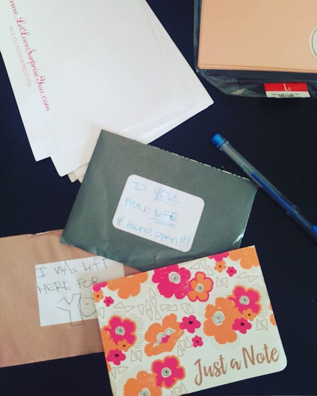 Wrote some letters today to leave in Mexico before I left and at the airport!!! #letlovesurpriseyou