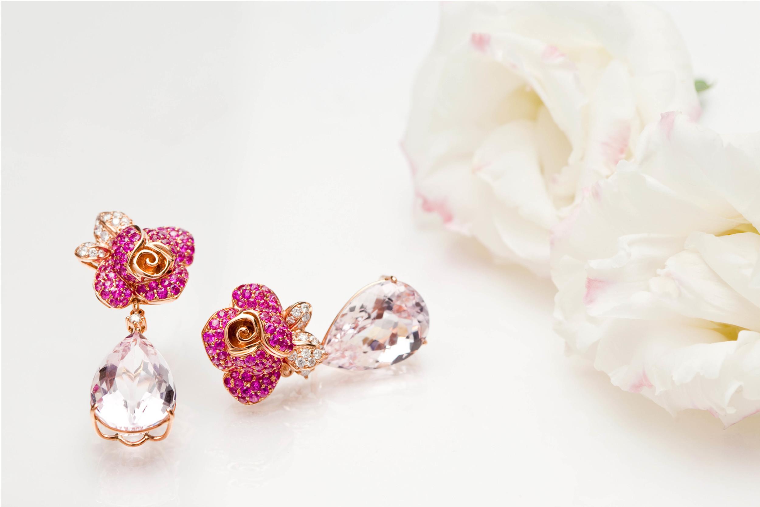 Pink Morganite Rose earrings.jpg