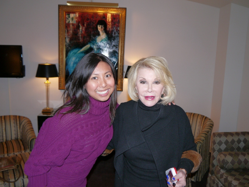 Backstage with Joan Rivers