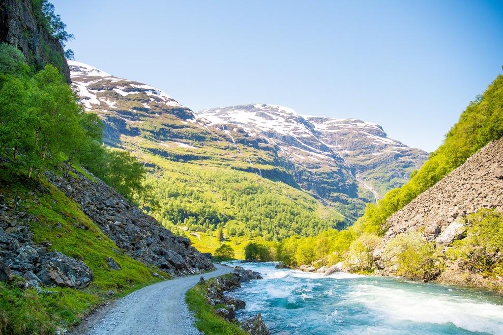 Praktisk informasjon - Tid: Ca. 5 timar med guideLengde: 18 km gåtur frå Myrdal til Flåm.Høgde: Startar på 866 moh, og du ender opp i Flåm på ca 2 moh.Turen passar for alle. Gode tursko og klede etter vèret.Turen med guide er kun tilgjengeleg på førespurnad.