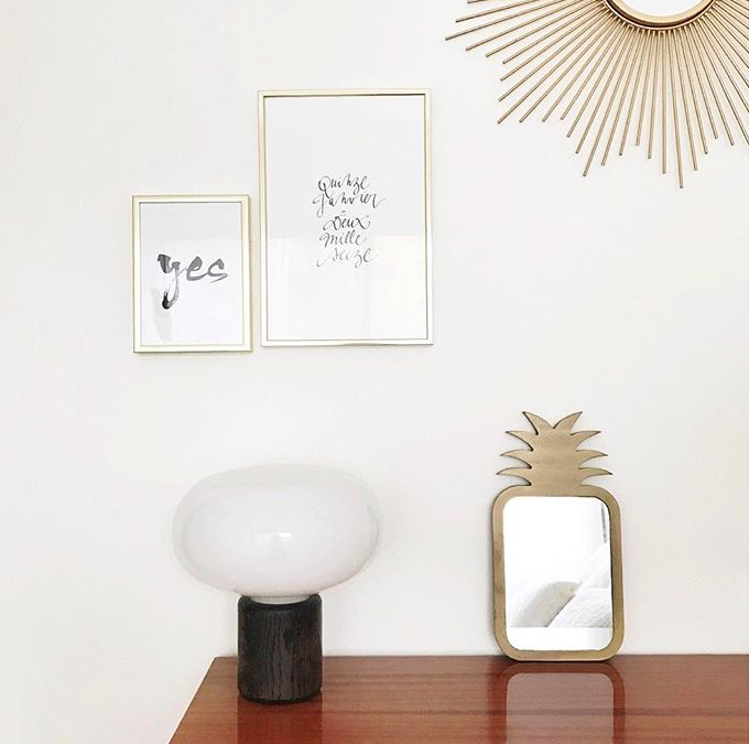 Karl-Johan Table Lamp - Smoked Oak w. White Opal // Photo by french blogger @azzed