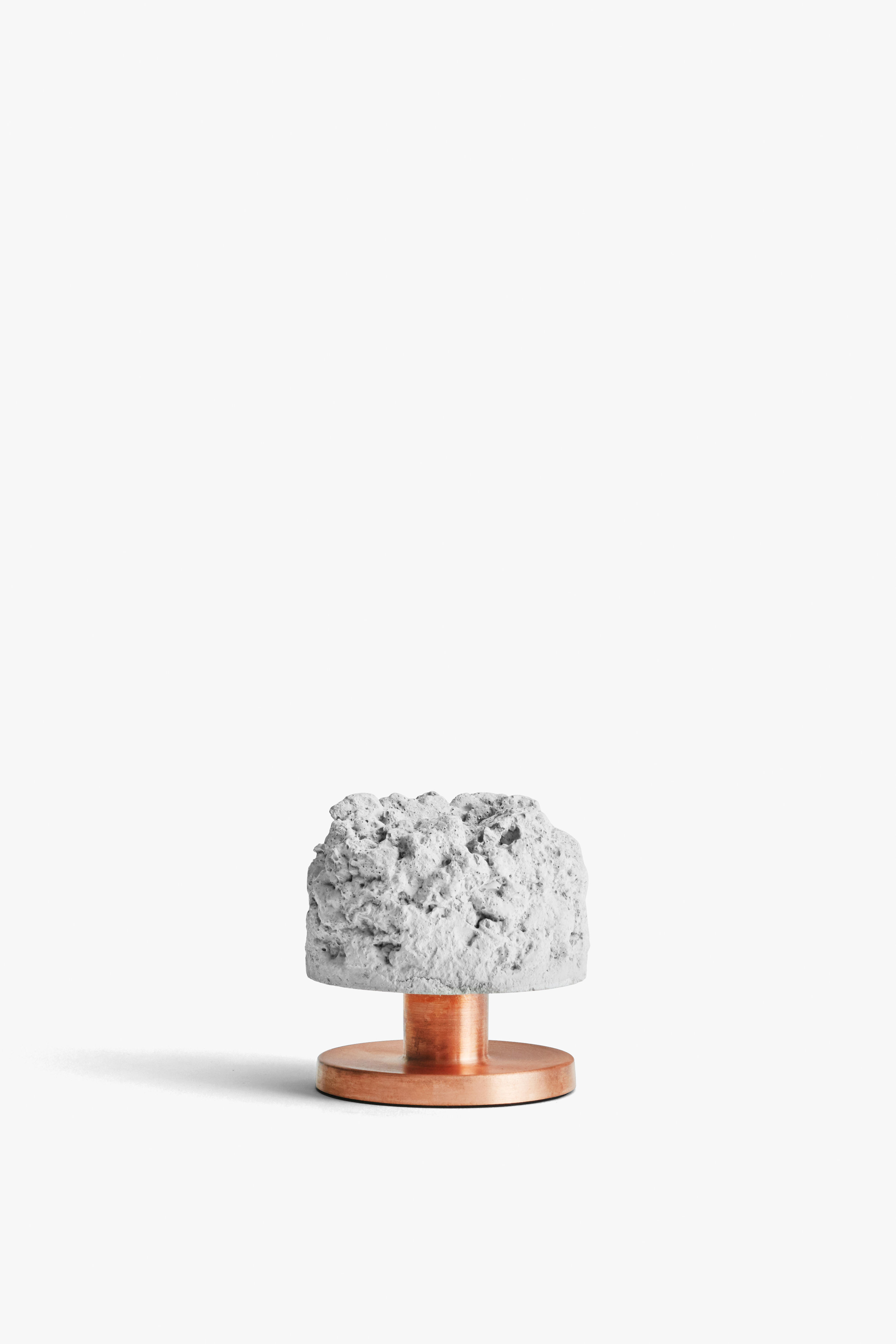 Crowd Candle Holder, Rough Billy Concrete w. Copper Base, New Works, High Res.jpg