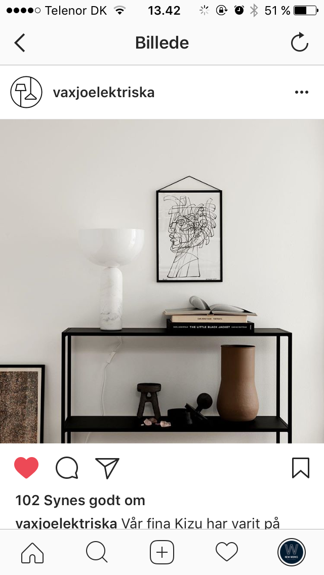 Kizu Table Lamp // Photo by Växjö Elektriska, Sweden