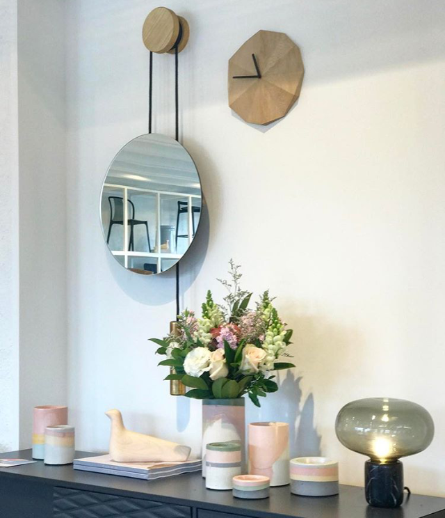 Rise & Shine Wall Mirror and Karl-Johan Table Lamp // Photo by Aura Adelaide's Design Store, Australian