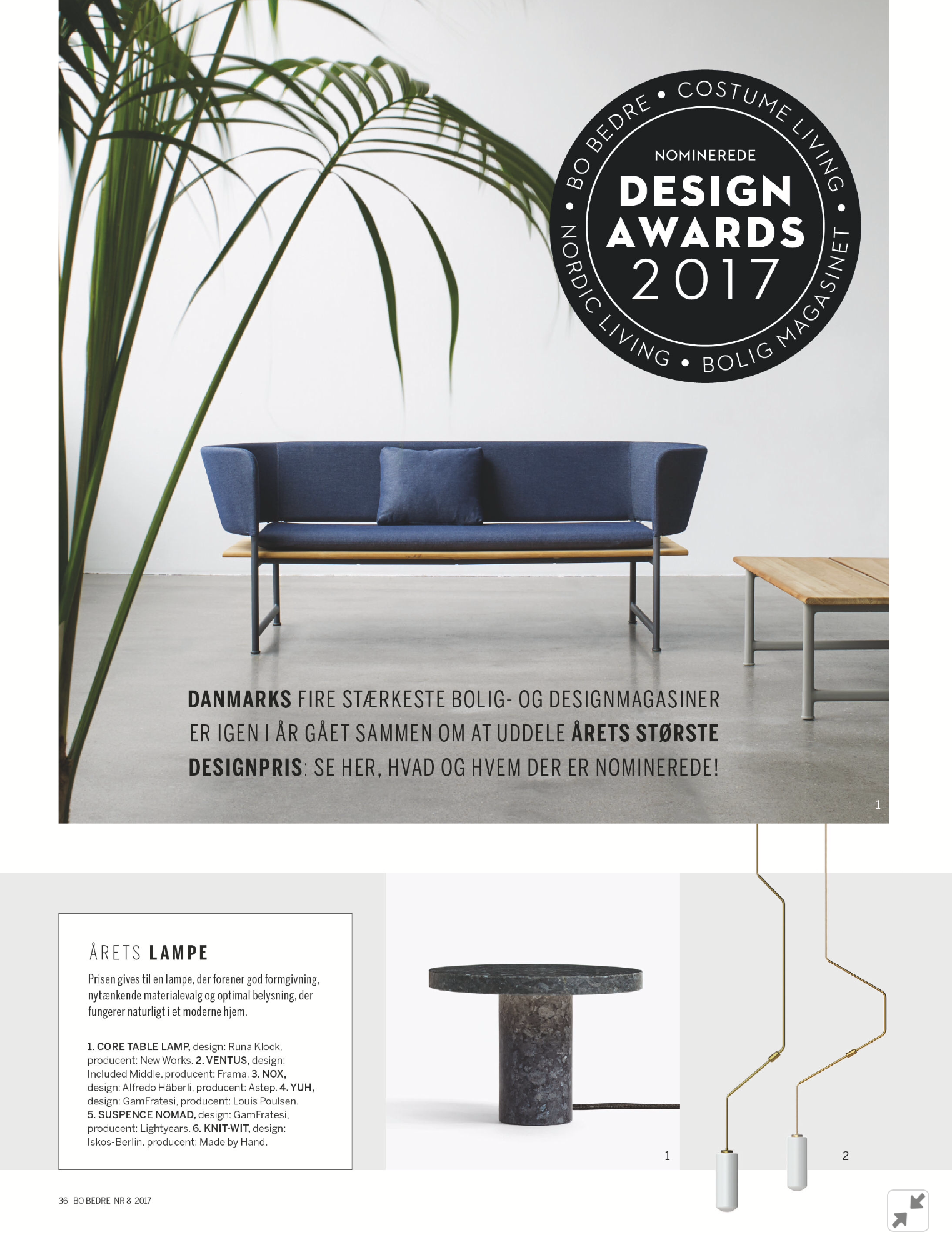 Design Award 2017 - Lamp of the Year!
