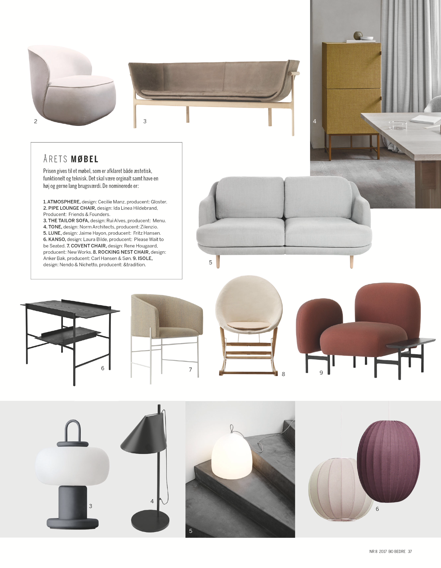 Design Award 2017 - Furniture of the Year!