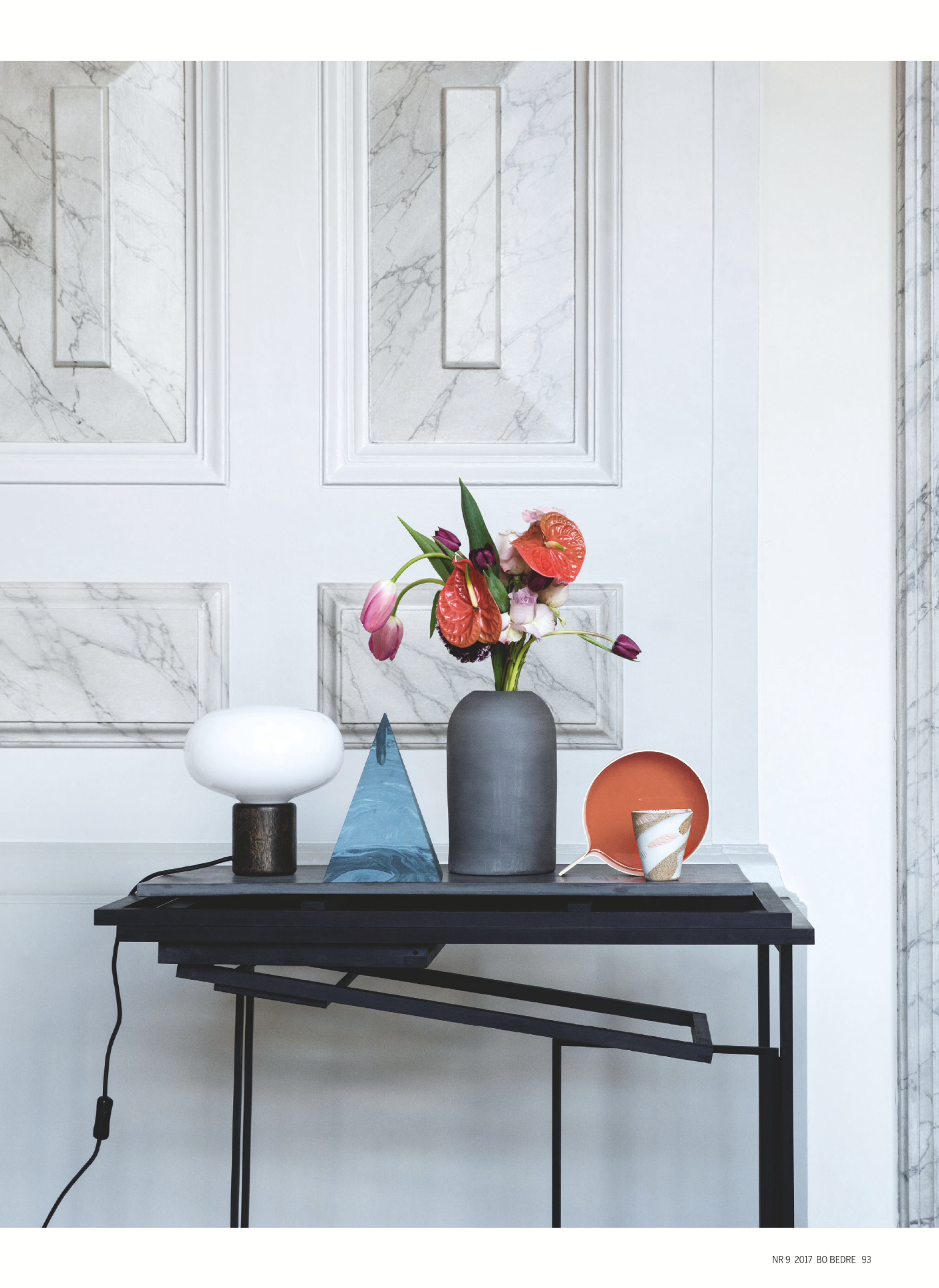 New Styling With Karl-Johan Table Lamp in this month issue of Bo Bedre