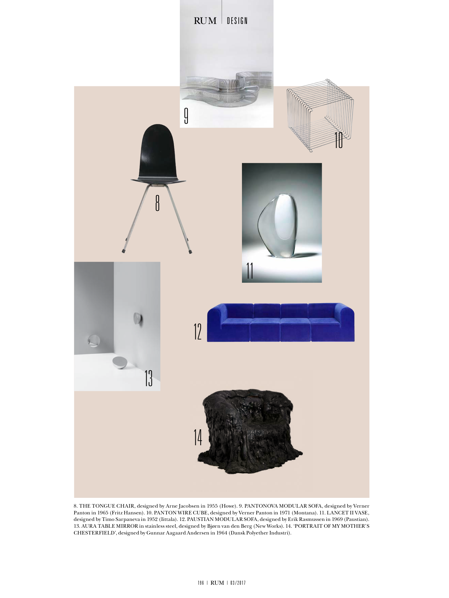 Eclectic moodboard in this month issue of rum magazine