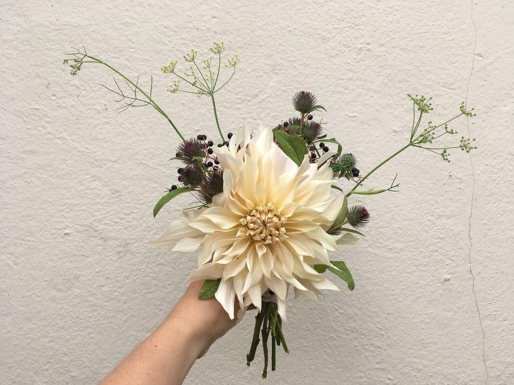 Pic:  Wildfolk Norwich  who specialise in organic, seasonal floristry.