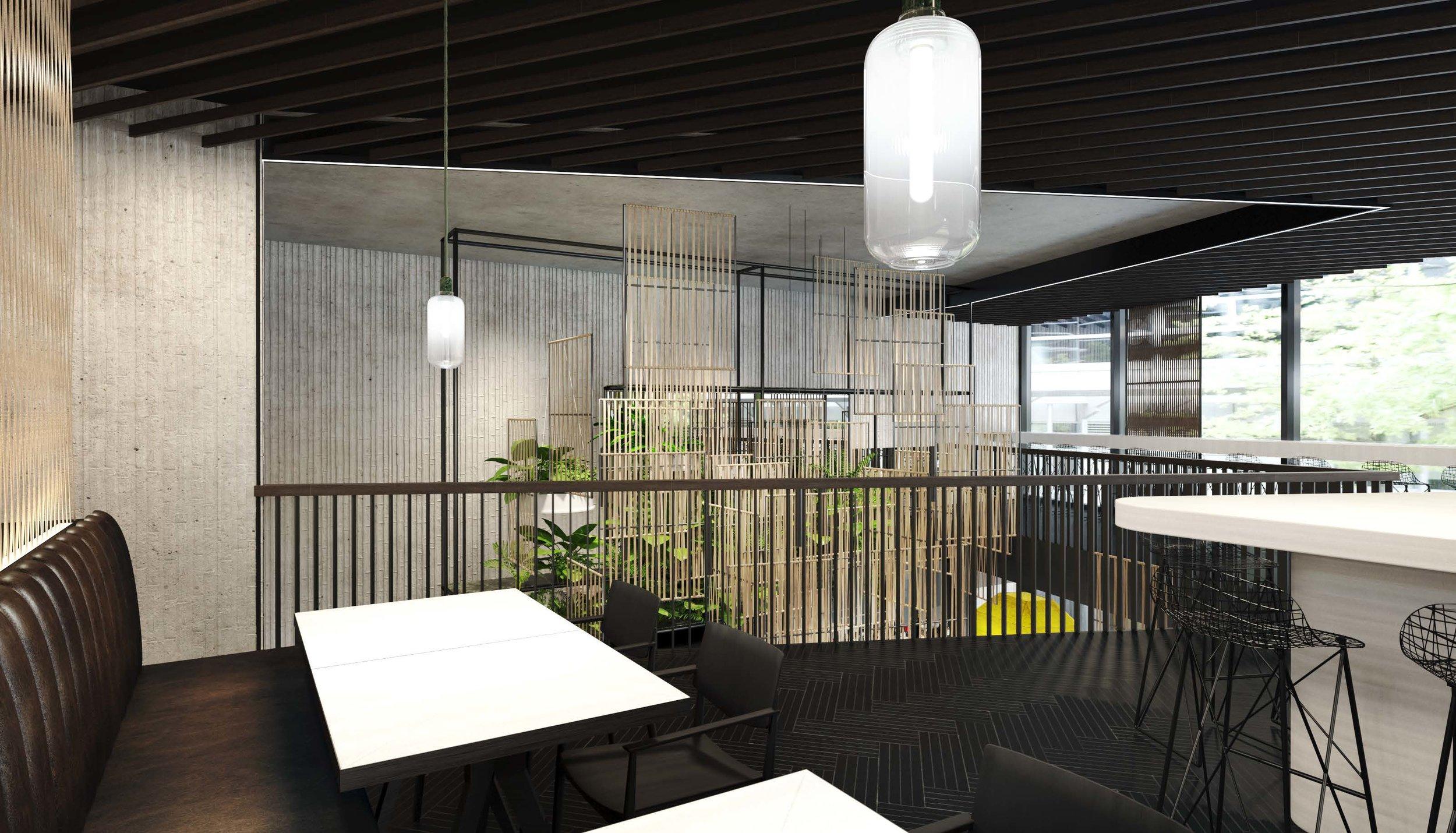 Königstraße, Stuttgart, restaurant, hospitality, asian food, rendering, visualization, Studio Alexander Fehre