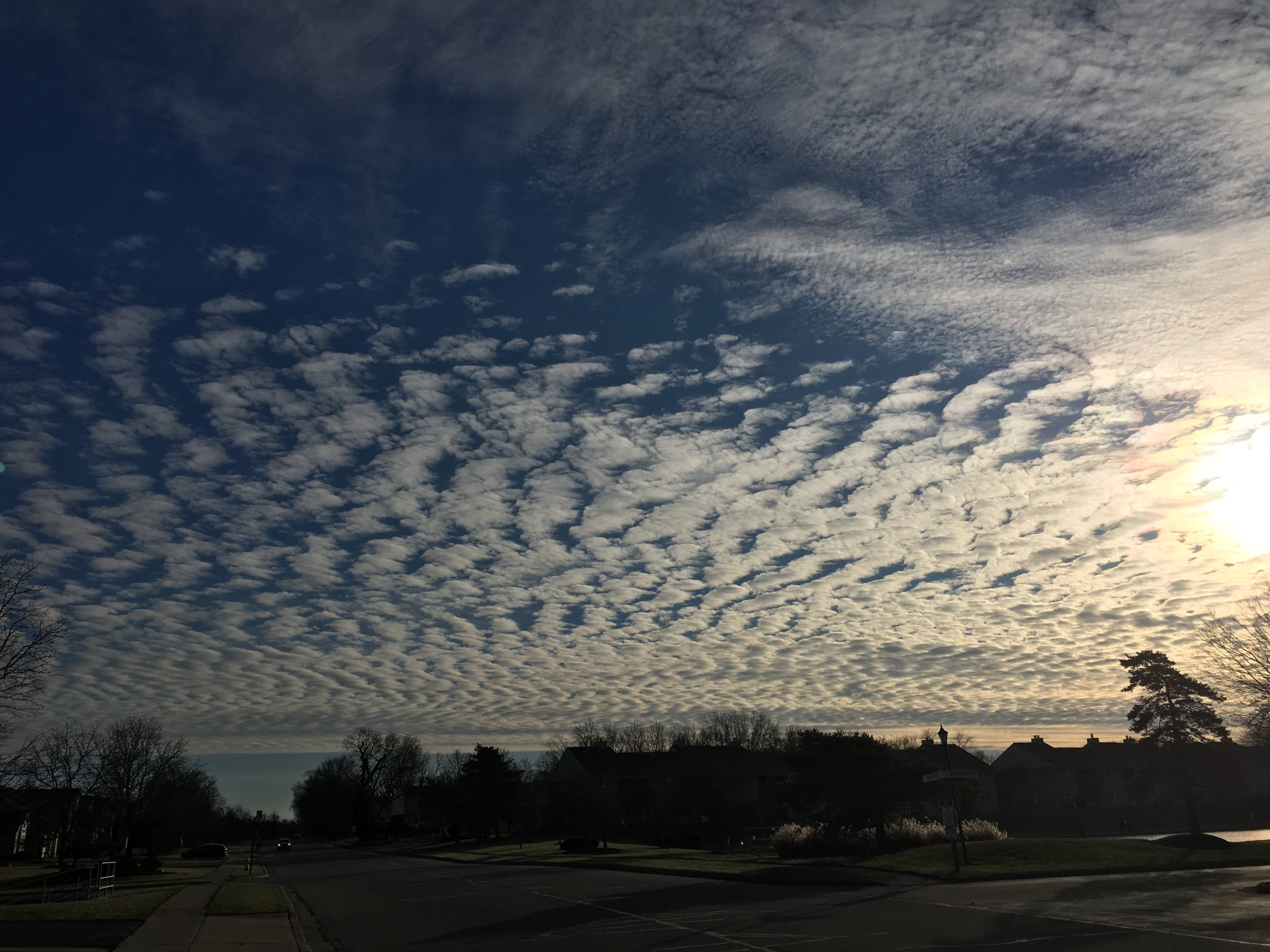 Sky over Centerville, OH