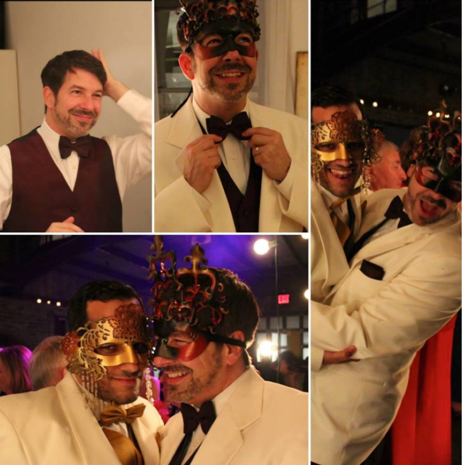 #throwbackthursday  #5 - May 11, 2012 - Tim and I never needed Halloween to dress up and have a good time! This time a Masked Birthday Bash at The Foundry!  #rememberingtim