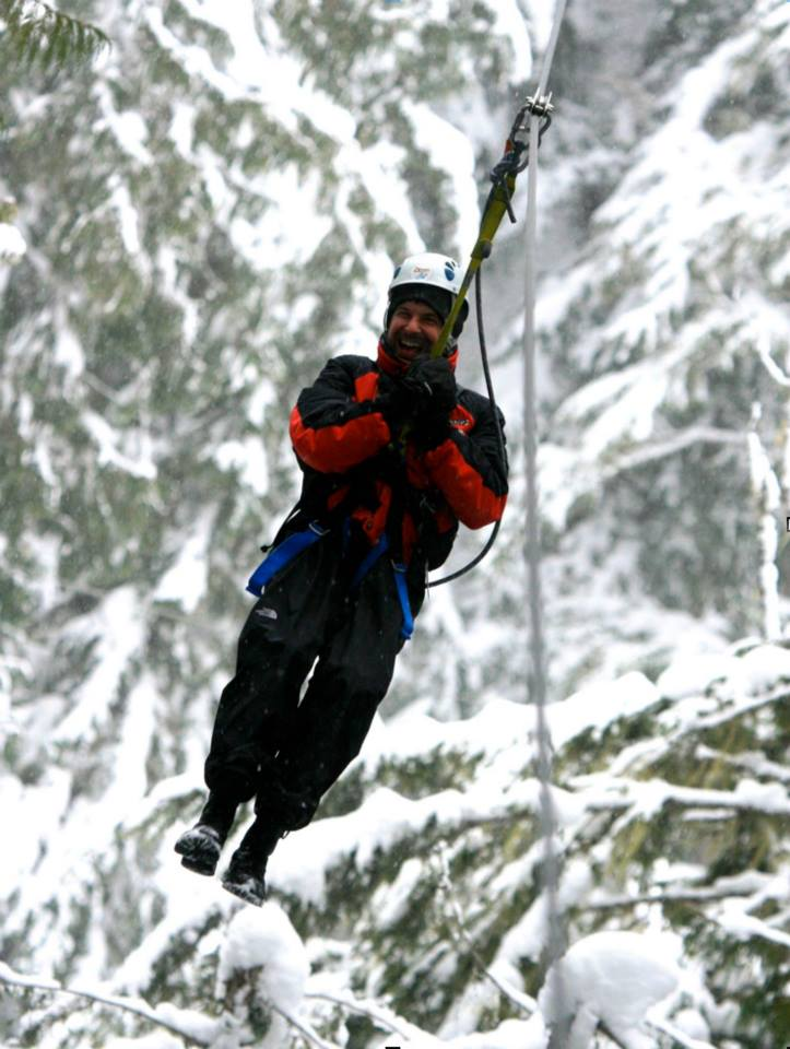 """#throwbackthursday  #7 - January 4th, 2009 - In the spirit of today's storm, I present to you zip lining in Whistler, Canada! Remember looking at my pics, then his, and telling Tim, """"Are you kidding me? Even when you're thousands of feet above ground risking your life, you STILL look good! Ugh!""""  #rememberingtim"""