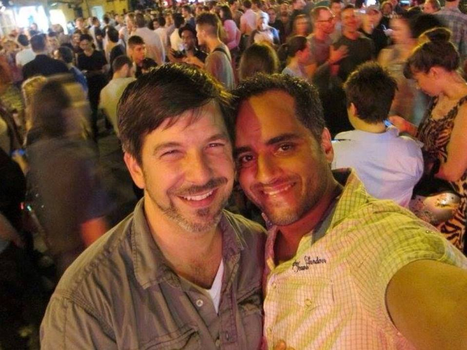 #throwbackthursday  #15 - June 24, 2011 at Stonewall. Driving back from MA just before midnight, we got the call NY Senate passed the marriage bill! As tired as we were, there was NO WAY we couldn't go out, celebrate, and be a part of it! Already legally married in MA, we made it legal in NY on our four year anniversary later that year  #rememberingtim