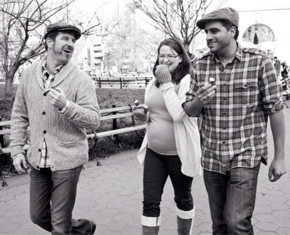 #throwbackthursday  #23 - Dec 15th, 2012: been understandably caught up, I forgot to honor Tim this morning with   #tbt  . During our pregnancy photoshoot with Karen Wise, we're laughing because we couldn't believe we were making Natasia eat from a NYC pretzel stand!  #rememberingtim