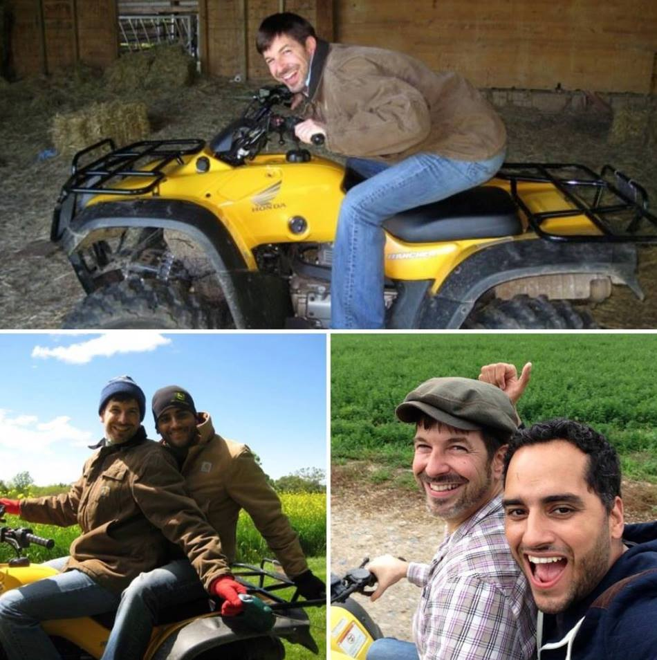 """#throwbackthursday  #38 - 2008-2013. One of the things that won me over was every time Tim and I got to his parent's farm, he dropped his bags, said hello, and with boyish excitement turn and say, """"Lets go four-wheeling!"""" Last time we went (lower right) he teased before turning the key, """"I don't know. Maybe you wanna throw your arms around me, put your head on my back like the first time I took you four-wheeling (lower left) when you fell madly in love with me"""" lol. I did.  #farmboyatheart    #rememberingtim"""