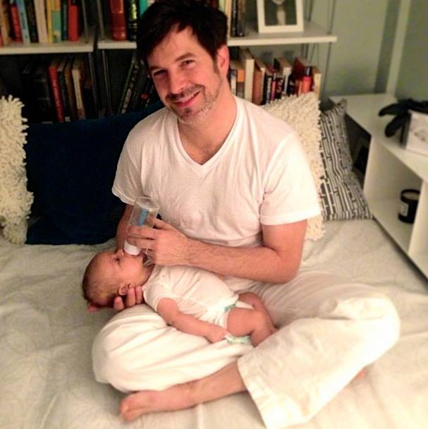 #throwbackthursday  #50 - May 14, 2013 - One of my all-time favorite moments captured. The man cave I created for Tim turned into his space of solitude in the mornings with Avery while he let this daddy sleep in. Said it was his favorite time of the day  #rememberingtim    #averywalker